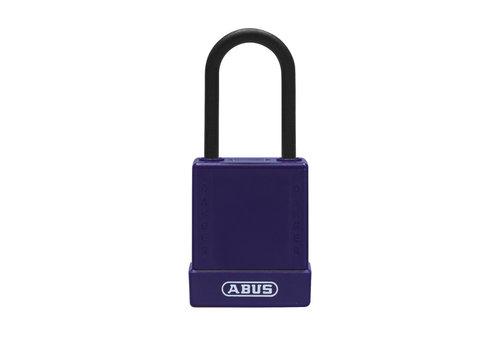 Aluminium Sicherheits-vorhängeschloss mit lila Abdeckung 76PS/40 lila