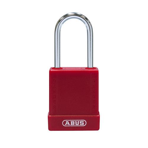 Aluminium Sicherheits-vorhängeschloss mit rote Abdeckung 76BS/40 rot