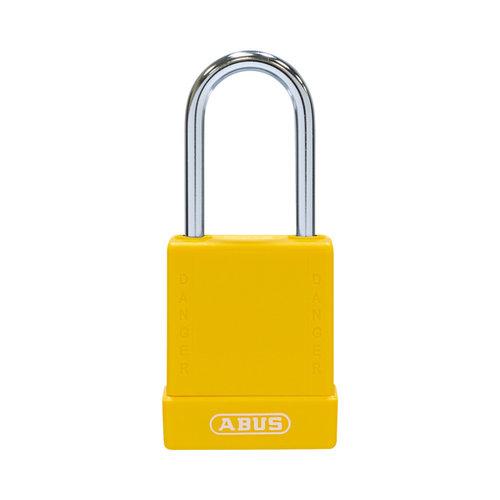 Aluminium Sicherheits-vorhängeschloss mit gelber Abdeckung 76BS/40 gelb