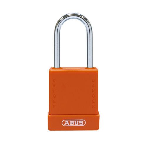 Aluminium Sicherheits-vorhängeschloss mit orange Abdeckung 76BS/40 orange