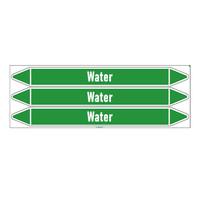 Rohrmarkierer: Feed water   Englisch   Wasser