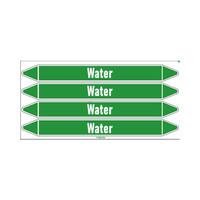 Rohrmarkierer: Heating water loop   Englisch   Wasser