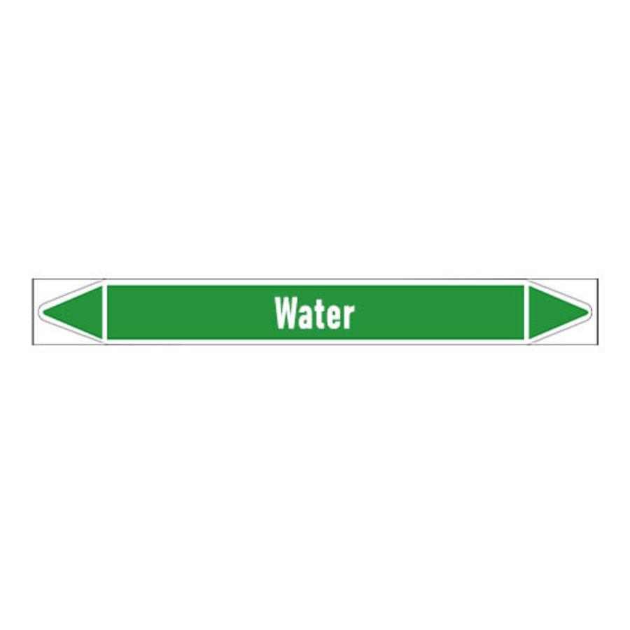 Rohrmarkierer: Heating water return   Englisch   Wasser