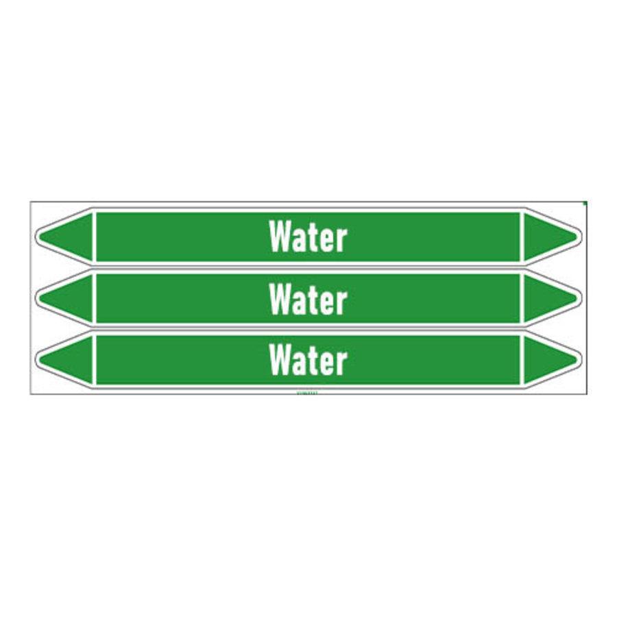 Rohrmarkierer: Hot water 105°C | Englisch | Wasser