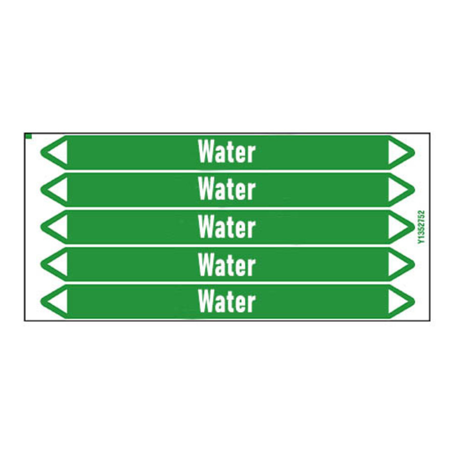 Rohrmarkierer: Hot water 45°C | Englisch | Wasser