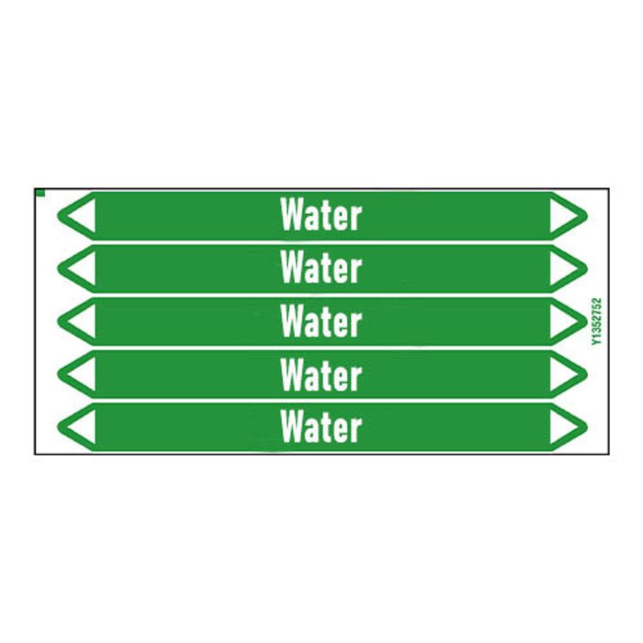 Rohrmarkierer: Hot water return | Englisch | Wasser