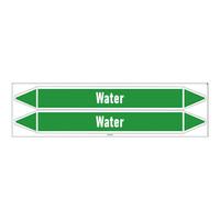 Rohrmarkierer: Primary hot water | Englisch | Wasser