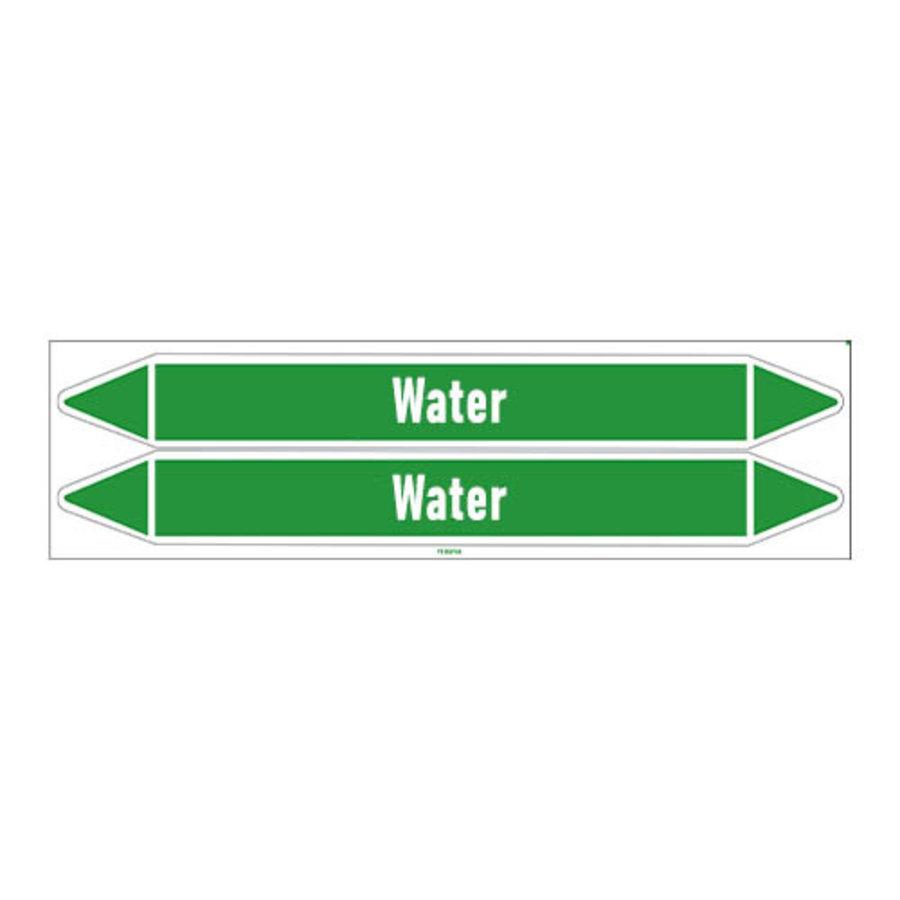 Rohrmarkierer: Primary hot water   Englisch   Wasser