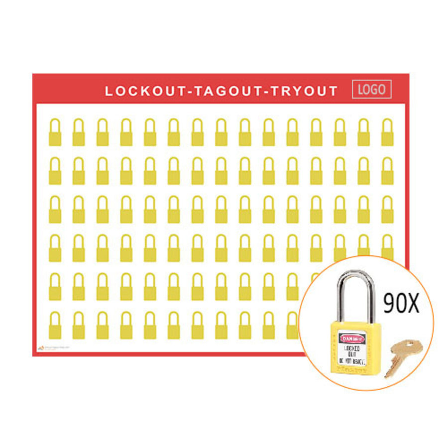 Lockout/Tagout-Shadowboards inkl. Master Lock 410  Vorhängeschlösser