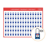 Lockout/Tagout-Shadowboards inkl. Abus 74BS/40 Vorhängeschlösser