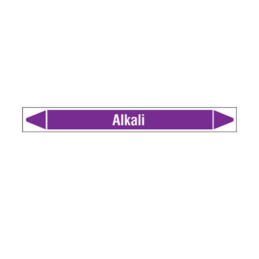 Rohrmarkierer: Alkali   Englisch   Säuren und Laugen