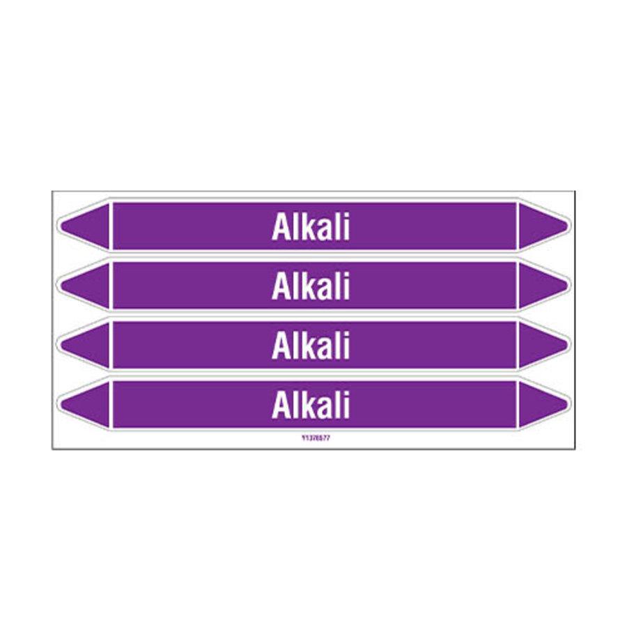 Rohrmarkierer: Alkali | Englisch | Säuren und Laugen