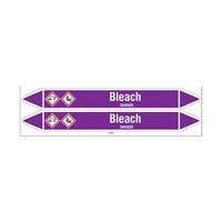 Rohrmarkierer: Bleach | Englisch | Säuren und Laugen