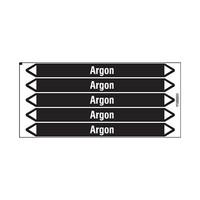 Rohrmarkierer: Argon | Niederländisch | Nicht Brennbare Flüssigkeiten