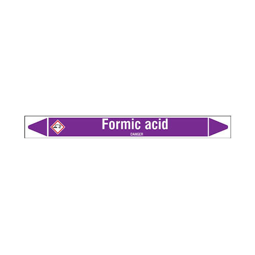 Rohrmarkierer: Formic acid | Englisch | Säuren und Laugen