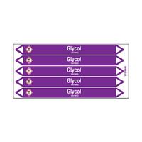 Rohrmarkierer: Glycol | Englisch | Säuren und Laugen