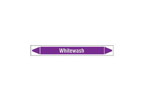 Rohrmarkierer: Whitewash | Englisch | Säuren und Laugen