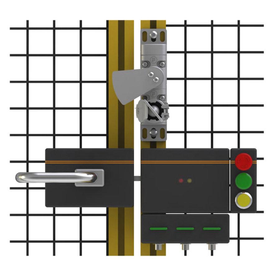 Mechanische Zutritts-Blockiersystem für Flügeltüren mit Schlüssel