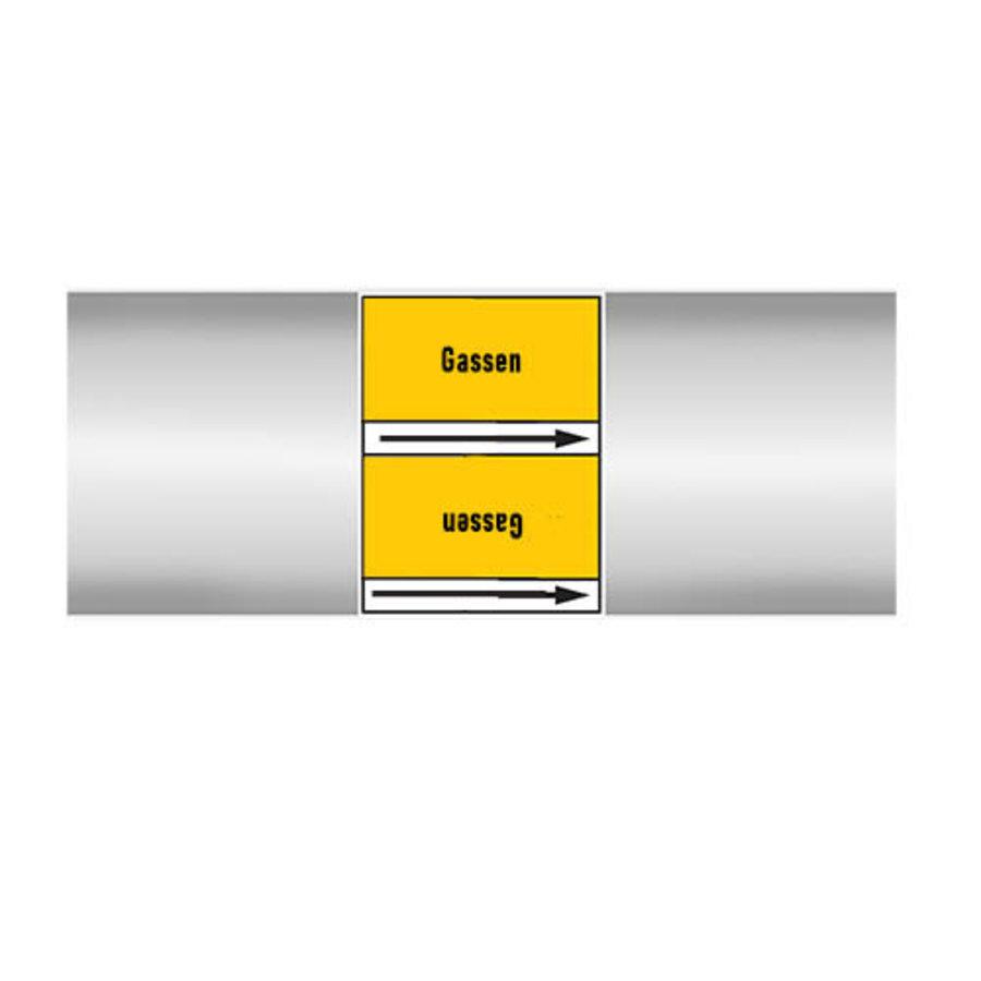 Rohrmarkierer: Inert-gas | Niederländisch | Gase