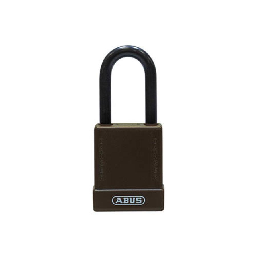 Aluminium Sicherheits-vorhängeschloss mit braune Abdeckung 84777