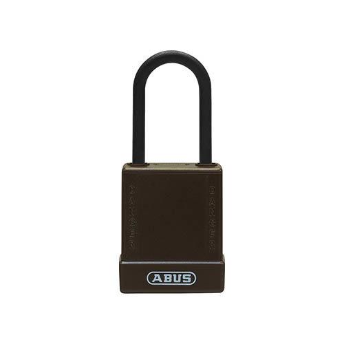 Aluminium Sicherheits-vorhängeschloss mit braune Abdeckung 76PS/40 braun