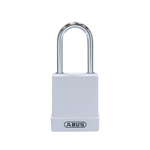 Aluminium Sicherheits-vorhängeschloss mit Weißen Abdeckung 76BS/40 Weiß