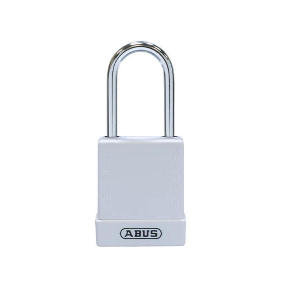 Aluminium Sicherheits-vorhängeschloss mit Weißen Abdeckung 84787