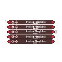 Rohrmarkierer: Acrylnitril | Deutsch | Brennbare Flüssigkeiten