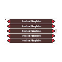 Rohrmarkierer: Benzin   Deutsch   Brennbare Flüssigkeiten