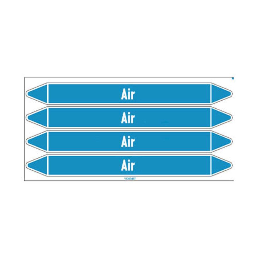 Rohrmarkierer: Air | Englisch | Luft