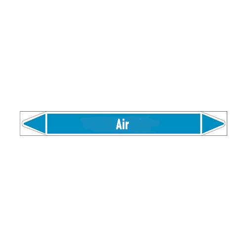 Rohrmarkierer: Dry air | Englisch | Luft