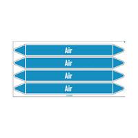 Rohrmarkierer: Instrument air | Englisch | Luft