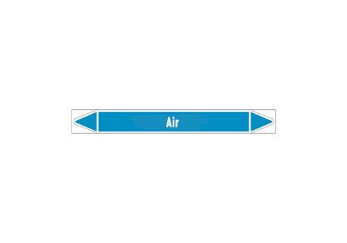 Rohrmarkierer: Purified air | Englisch | Luft