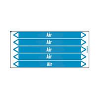 Rohrmarkierer: Sterile air | Englisch | Luft