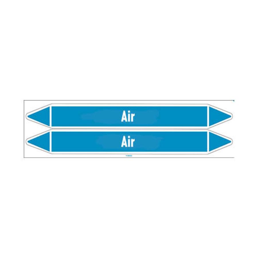 Rohrmarkierer: Treated air | Englisch | Luft