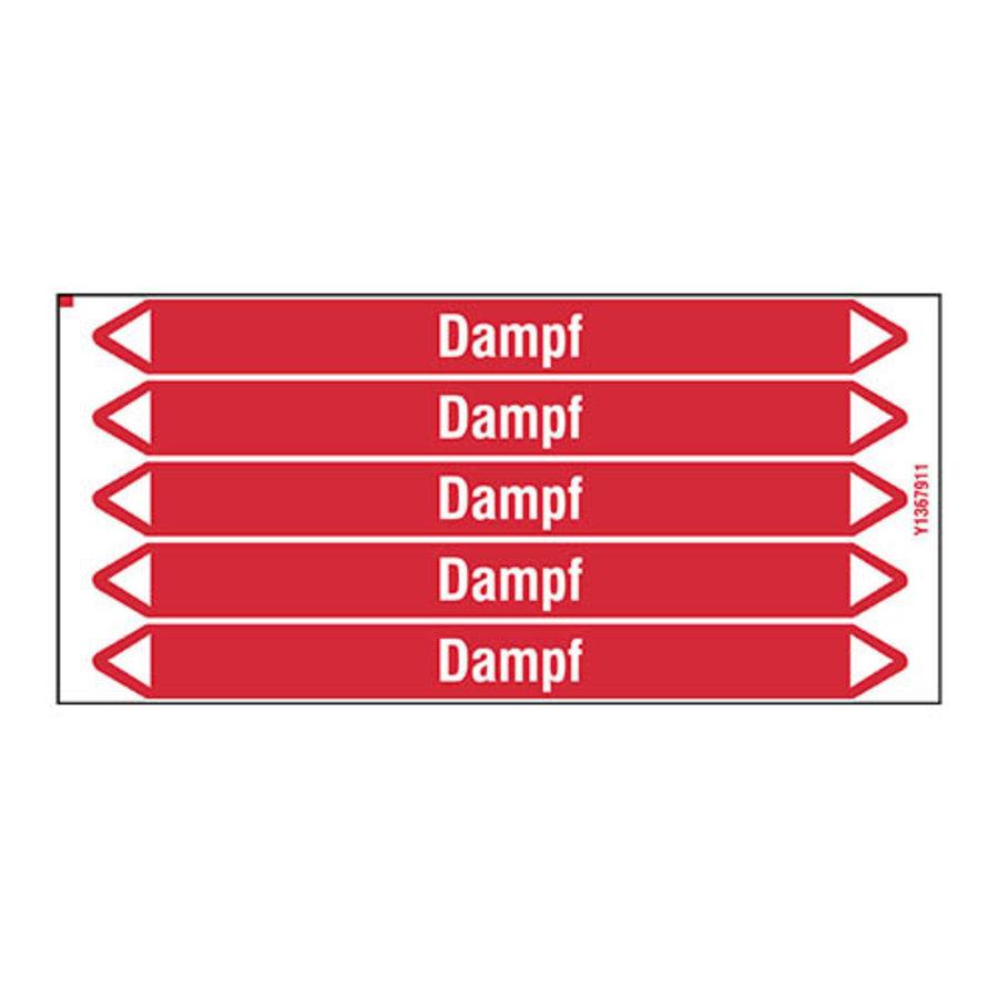 Rohrmarkierer: Abdampf   Deutsch   Dampf