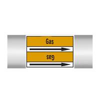 Rohrmarkierer: Bio gas | Englisch | Gase