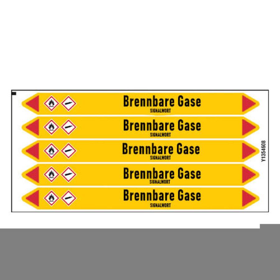 Rohrmarkierer: Kohlenmonoxyd | Deutsch | Brennbare Gase