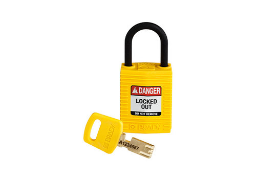 SafeKey Kompakt nylon Sicherheits-vorhängeschloss gelb 180181