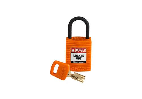 SafeKey Kompakt nylon Sicherheits-vorhängeschloss orange 150185