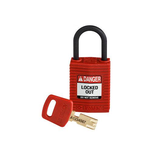 SafeKey Kompakt nylon Sicherheits-vorhängeschloss rood 150180
