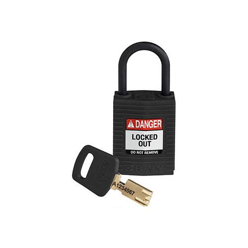SafeKey Kompakt nylon Sicherheits-vorhängeschloss schwarz 150184