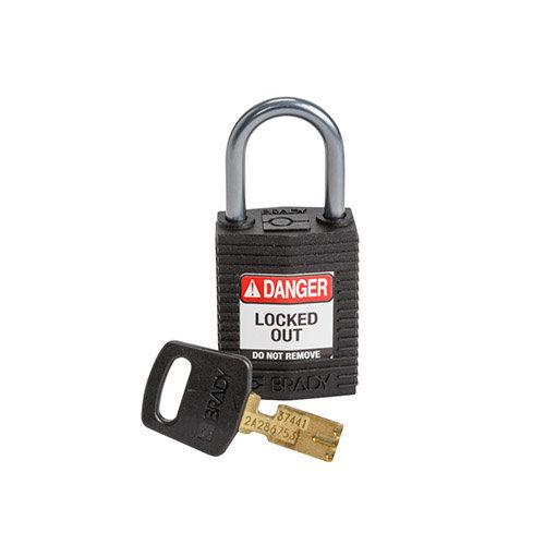 SafeKey Kompakt nylon Sicherheits-vorhängeschloss mit Aluminiumbügel schwarz 152159