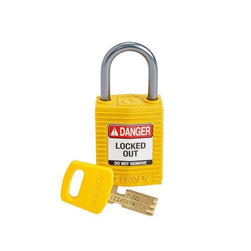SafeKey Kompakt nylon Sicherheits-vorhängeschloss mit Aluminiumbügel gelb 152156