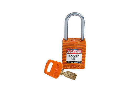SafeKey Kompakt nylon Sicherheits-vorhängeschloss mit Aluminiumbügel orange 151660