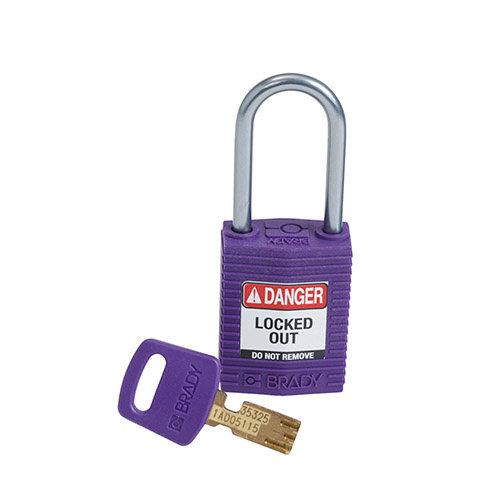 SafeKey Kompakt nylon Sicherheits-vorhängeschloss mit Aluminiumbügel lila 151661