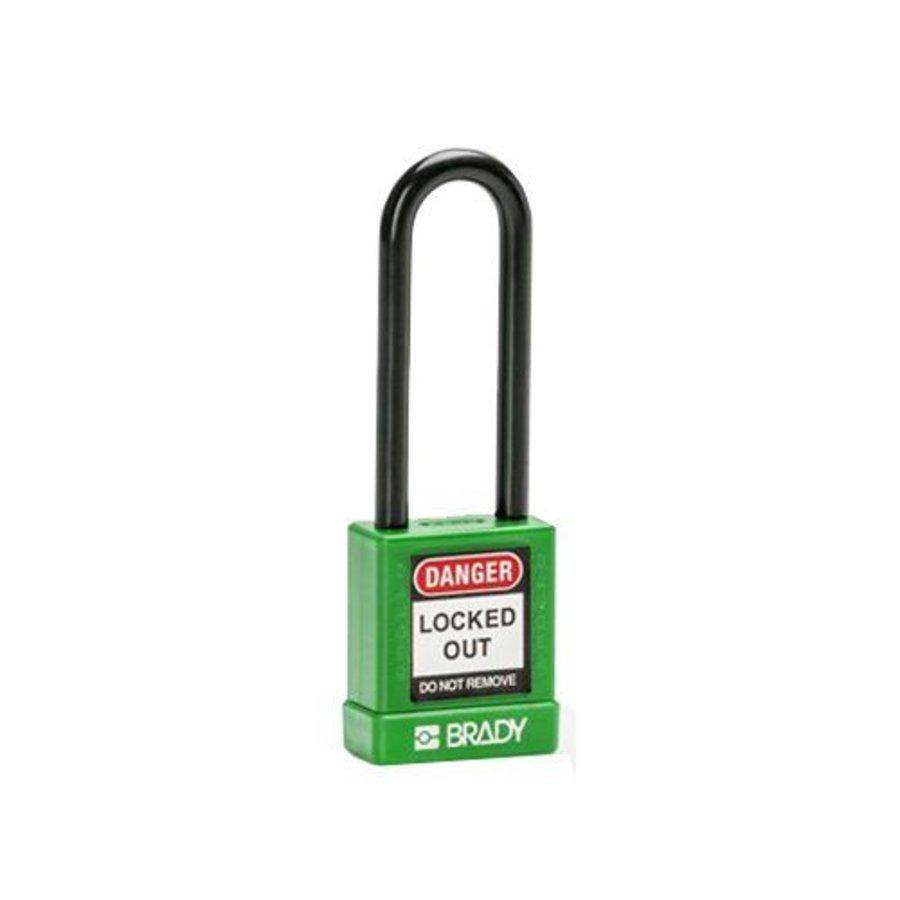 Aluminium Sicherheits-vorhängeschloss mit Kunstoffabdeckung grün 834478