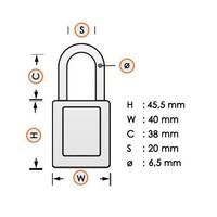 Aluminium Sicherheits-vorhängeschloss mit Kunstoffabdeckung schwarz 834469