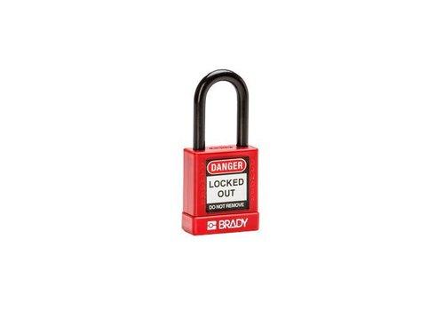 Aluminium Sicherheits-vorhängeschloss mit Kunstoffabdeckung rot 834470
