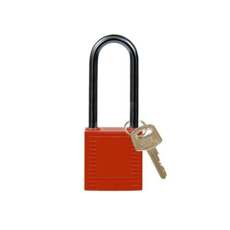 Nylon Kompakte Sicherheits-vorhängeschloss rot 8141236